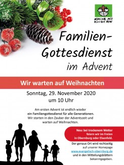 Familiengottesdienst am 1. Advent